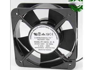 Square ROTARY FP-108EX-S1-B AC Axial Fan with Ball Bearing AC 220/240V 50/60Hz 0.22A 38W 2 Wires aluminium alloy Frame