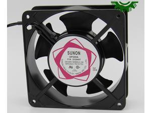 Square SUNON DP200A P/N2123HSL AC Axial Fan with AC 220/240V 50/60Hz 0.14A 2 Wires