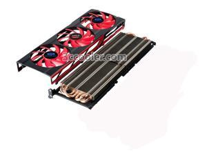 3pcs Cooling fan with black frame and heatsink For ATI Radeon HD7990