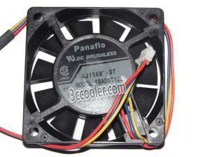 Panaflo 6015 60*15mm FBA06T12L 4J15AW-ST 12V 0.13A 3 Wires 3 Pins Case fan 6CM Server cooler