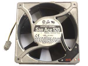 SANYO 12038 120*38mm 109S475UL 100V 18/16W 3 Wires matal frame case fan 12CM power cabinet ups cooler