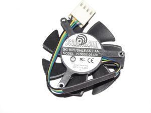Power Logic PLD05010B12H 12V 0.2A 4 wires 4pins vga fan ZOTAC 8500GT 8600GT 9400GT 9500GT GT210 Video cooler