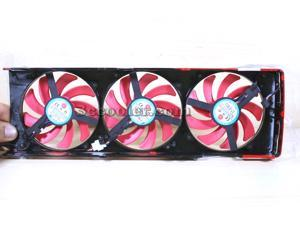 NTK FD7010H12S 12V 0.35A 3 pcs 3/4 Wires 4 Pins Frameless VGA Fan with a black cover for ATI HD7990