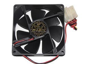 YateLoon 92*25mm  D90SL-12 12V 0.14A 2 wires 2 pins 9cm Case fan cpu cooler