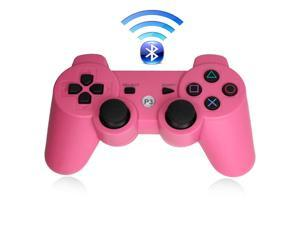 Premium Wireless Bluetooth Double Vibration Controller Remote Game  Console For Sony PS3 - Pink (Althemax)