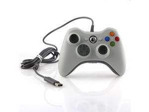 Wired USB Game Pad Joysticks Controller Reomte For Microsoft xBox 360 - White (Althemax)