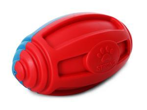 Pet Life Gridiron Football Durable Water Floating Chew And Fetch Dog Toy - One Size - Red/Blue