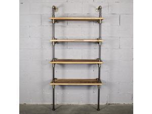 Sacramento Industrial Chic  33 Wide  4-Tier Etagere Bookcase TWBS331-BR
