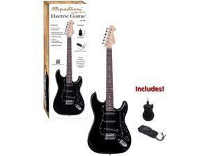 Spectrum Ail 81B Black Full Size Electric Guitar.