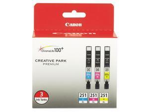 Canon CLI-251 Ink ,INKCART,CLI-251XL,AST 3PK