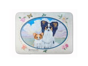 Caroline's Treasures Papillon Floor Mat, 19 x 27, Multicolor 7243RUG