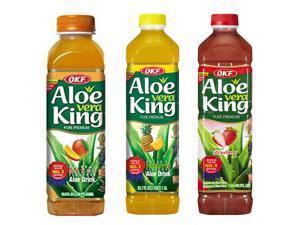 Aloe Vera King, Mango, Pineapple & Strawberry, 50.7-Ounce Bottles (Pack of 12 each)