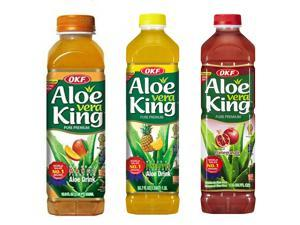 Aloe Vera King, Mango, Pineapple & Pomegranate, 50.7-Ounce Bottles (Pack of 12 each)