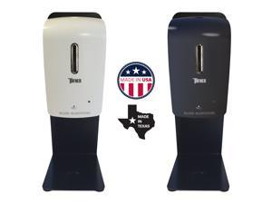 Automatic Touch-Free Universal Hand Sanitizer Dispenser and Counter Top Station Kit, Made in USA.  Color option is Black