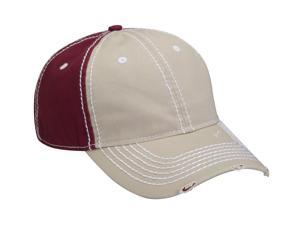 ADAMS RAMBLER- Two Tone Distressed Cap with Heavy Stitching ACRM102KHMA001