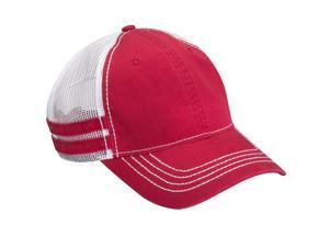 ADAMS HERITAGE- Low Profile Trucker Hat with Stripe Detail ACHT102RD00001