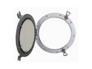 """Porthole Mirror Aluminum, 11"""""""