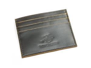 Winchester Abilene RFID Mens Brown Wallet - Card Case - Full Grain Leather