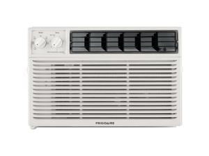 6,000 BTU 115V Window-Mounted Mini-Compact Air Conditioner with Mechanical Controls, White