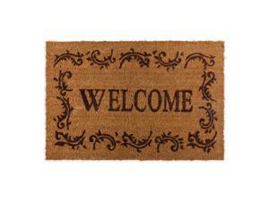 J&M Welcome Filigree W/Bern Border Vinyl Back Coir 24x36 Doormat