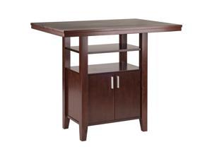 Ergode Albany High Table with Cabinet, Walnut