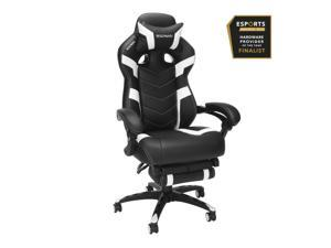 Ergode RESPAWN 110 Pro Racing Style Gaming Chair, Reclining Ergonomic Chair with Built-in Footrest, in White (RSP-110V2-WHT)