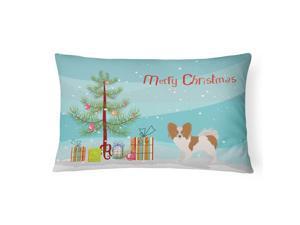 Papillon Christmas Tree Canvas Fabric Decorative Pillow