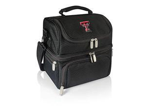 Picnic Time 512-80-175-574-0 Texas Tech Red Raiders Digital Print Pranzo Personal Cooler Lunch Box Tote, Black