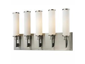 Z-Lite Savannah 5 Light Vanity, Brushed Nickel - 412-5V