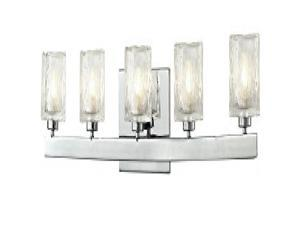 Z-Lite 3028-5V- 5 Light Vanity Light Chrome  Steel  Glass