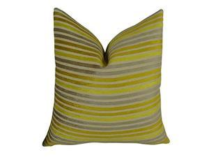 """Plutus Fork Valley Handmade Throw Pillow, (Double sided  20"""" x 36"""" King)"""