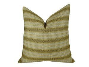 "Plutus Full Stripe Handmade Throw Pillow, (Double sided  24"" x 24"")"