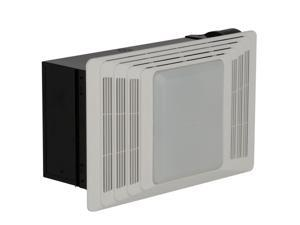 Broan 659 Bathroom fan with heater and Light White Plastic Grille 50 CFM