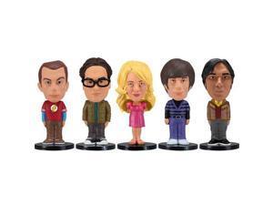 Funko Big Bang Theory: Mini Wacky Wobbler Set, 5 Pieces