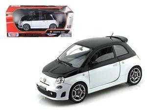 Fiat 500 Abarth Black 1:18 Diecast Car Model by Motormax