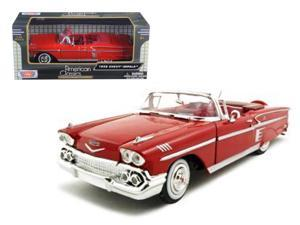 1958 Chevrolet Impala Blue 1:24 Diecast Model Car by Motormax