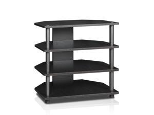 Furinno 15093BW/BK Turn-N-Tube Easy Assembly 3-Tier Petite TV Stand, Blackwood