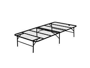 Furinno Angeland Mattress Foundation Platform Metal Bed Frame, Twin, FB001T