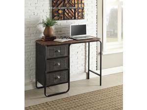 4D Concepts 140251 Locker Collection Desk, Black & Grey