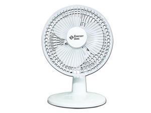"Comfort Zone CZ6D - 6"" Table Fan, White"