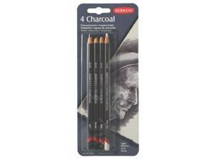 Derwent Charcoal Pencils, Pack, 4 Count (39000)