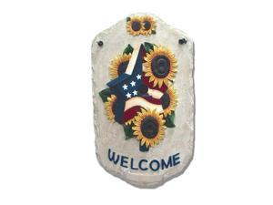 "''Sunflower Birdhouse"" by Trendy Decor 4U  Resin Sculpted Indoor/ Outdoor Plaques"