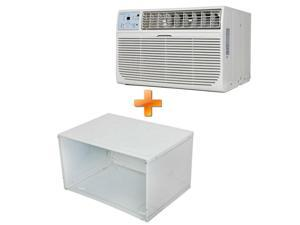 "Combo Offer Keystone KSTAT12-2C 12000 BTU 230V Through-the-Wall Air Conditioner with ""Follow Me"" LCD Remote Control and 26"" Wall Sleeve for Through-the-Wall Air Conditioners."