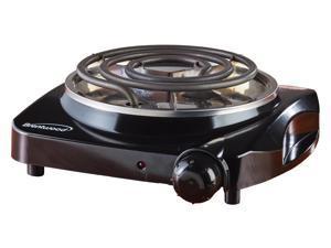 Brentwood TS306 1200 Watts Single Electric Burner - Black