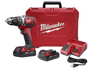 Milwaukee Electric Tool - 2606-22CT - Milwaukee Tools 2606-22CT M18 Compact Drill/Driver Kit; 18 Volt, 7.25 Inch Length