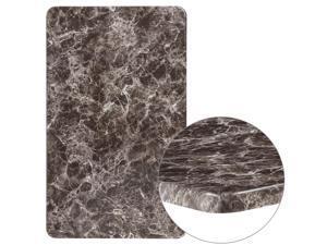 "24"" x 42"" Rectangular Gray Marble Laminate Table Top"