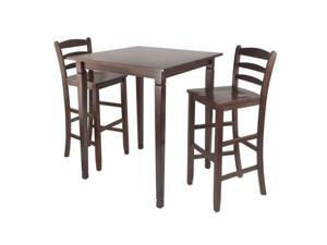 3-Pc Kingsgate High/Pub Dining Table with Ladder Back High Chair 94369-VV By Ergode