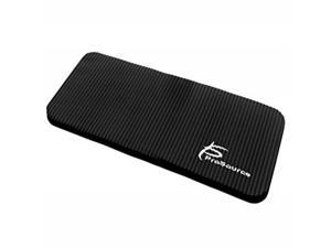 ProSource Extra Thick Yoga Knee Pad and Elbow Cushion 15mm (5/8) Fits Standard Mats for Pain Free Joints in Yoga, Pilates, Floor Workouts, Black