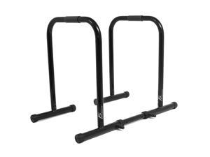 ProSource Dip Stand Station, Heavy Duty Ultimate Body Press Bar for Tricep Dips, Pull-Ups, Push-Ups, L-Sits, Black