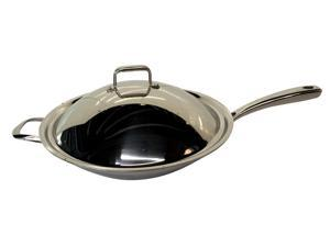 16.5 Stainless Steel Pot with Lid, handle (Induction Ready)
